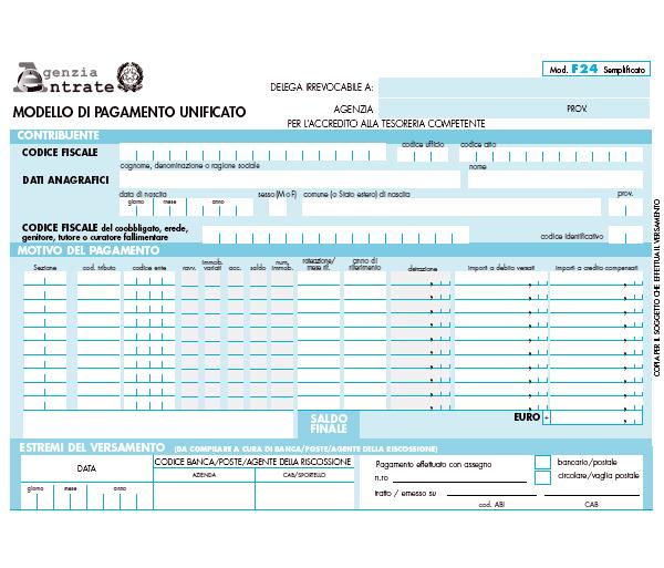 F24 semplificato: debutta l'1 giugno la delega di pagamento monopagina